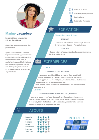 Back to school template - CV #22
