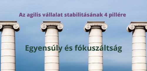Az agilis vállalat stabilitásának 4 pillére – Egyensúly és fókuszáltság