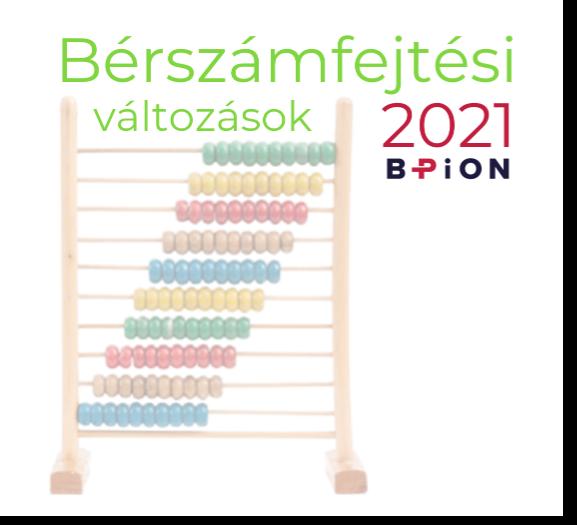 Bérszámfejtési változások 2021-ben