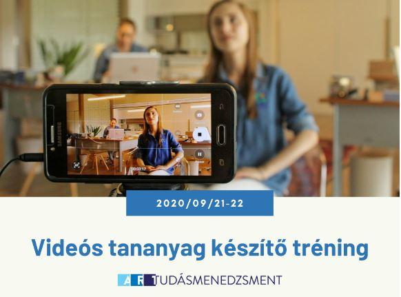 Videós tananyag készítő tréning