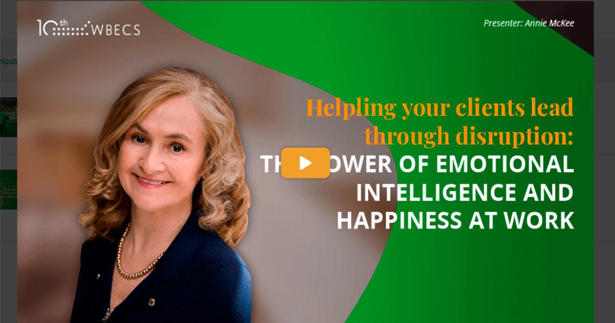 A CHN a WBECS-ről jelenti: Érzelmi intelligenciával és munkahelyi boldogsággal a teljes életért