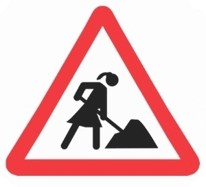 woman construction sign_300