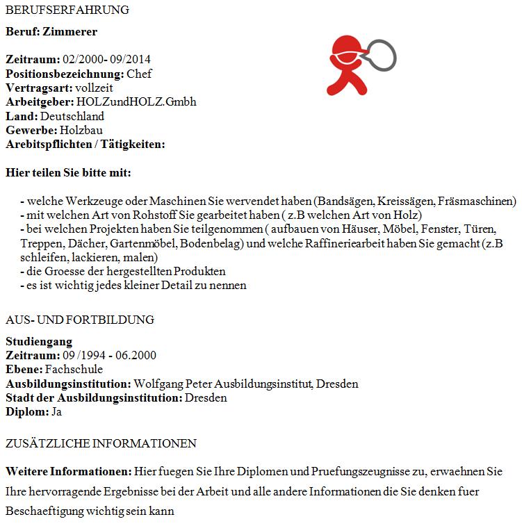 önéletrajz minta asztalos A Tjobs német nyelvű önéletrajz mintája asztalosoknak önéletrajz minta asztalos